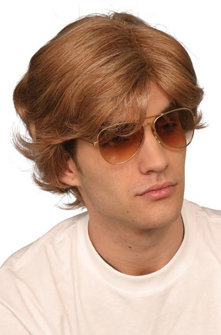 George Michael Short Brown Wig 80s 90s Boy Band Pop Star Fancy Dress